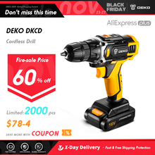 DEKO Sharker 20V Great Corledd Drill Screwdriver Mini Wireless Power Driver DC  Lithium-Ion Battery Last a Long Highly Recommend