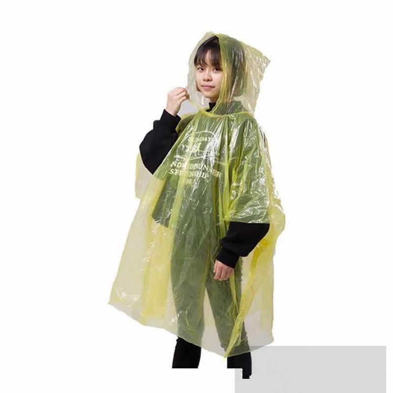 1Pcs Portable Gantungan Kunci Bola Jas Hujan Sekali Pakai Portable Hujan Jaket Poncho Unisex Hujan Gantungan Kunci Bola