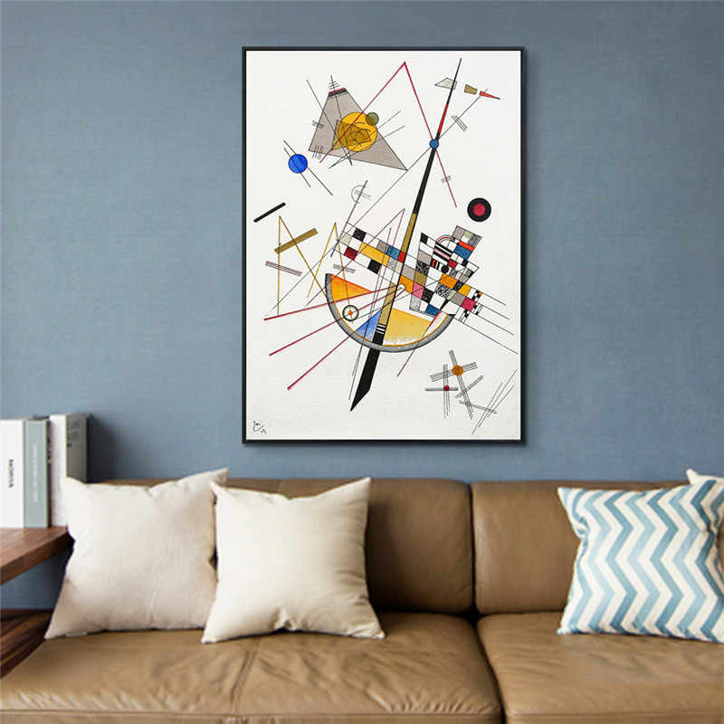 Delicate Tension By Wassily Kandinsky Abstract Art Wall Painting Prints and Posters Canvas Pictures For Living Room Cuadros Art