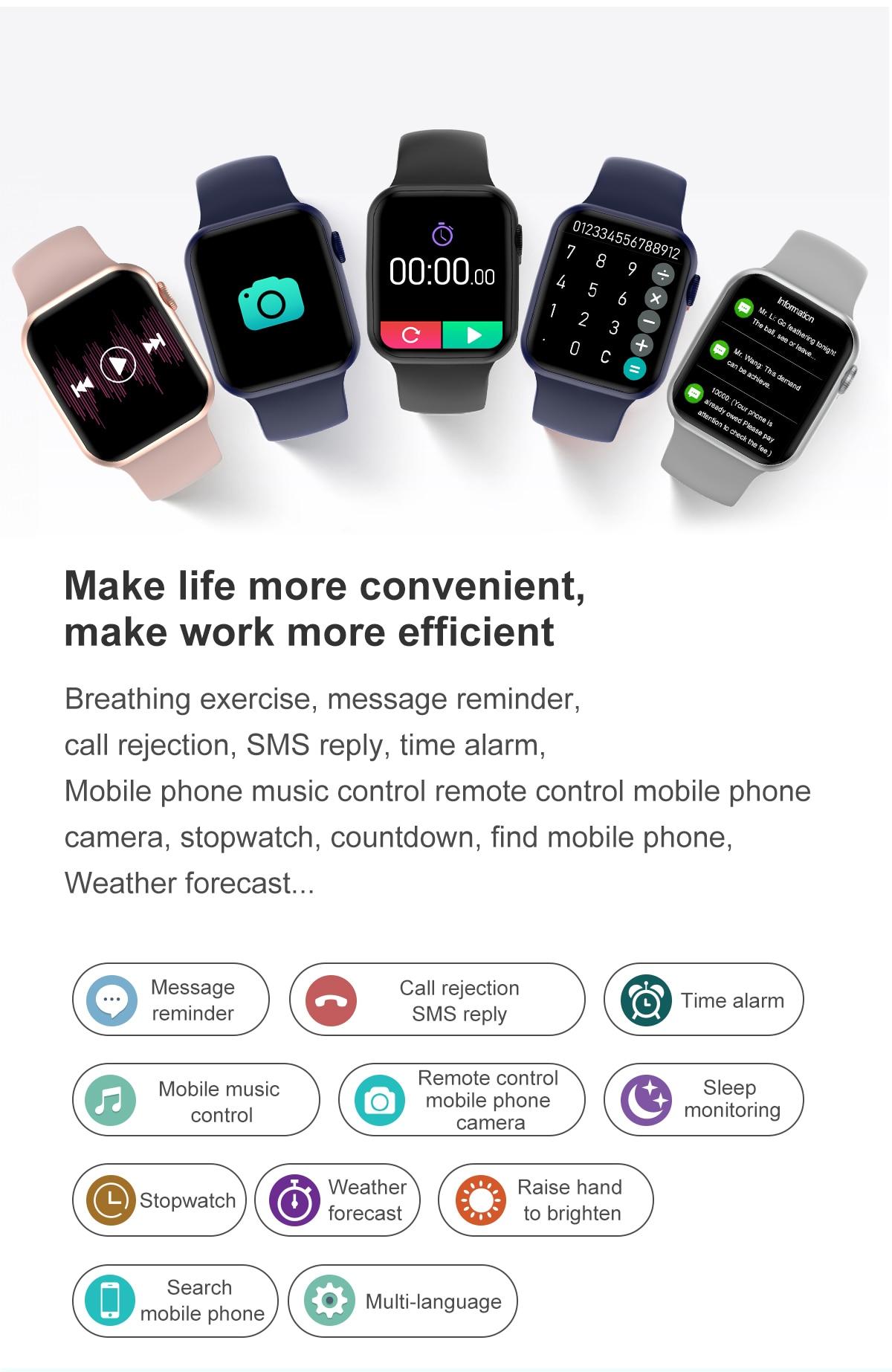 He105488579cd4a31a2001d640c4668caB DT100 pro Smart Watch Bluetooth Call Custom Dynamic Watch Face IP68 Waterproof Smartwatch Men Women for Apple Watch Iwo W26