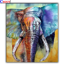 5D DIY Diamond Painting Color Elephant Mosaic Drawing Full Square Round Drill Embroidery Cross Stitch Home Decor