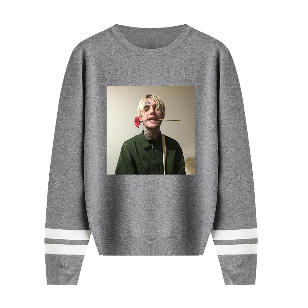 New Sweater Lil Peep Rose Sweater Autumn Streetwear Sweater Fashion Print Pullover Classic Knitted O-neck Sweater Lovers Sweater