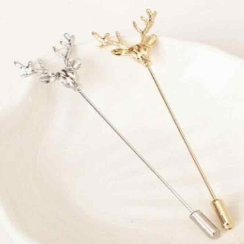 Ornaments Retro Deer Plug Long Needle Models Brooch Men Small Suit Plug Brooch Brooches For Women Pins Brooch Wholesale