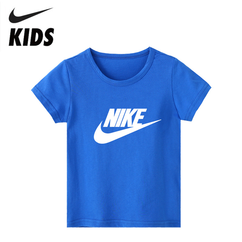 Nike Children T-Shirt Short Sleeve Cotton Kids Tshirt Boys Shirt Casual Kids Clothing For Kids 2Y-10Y