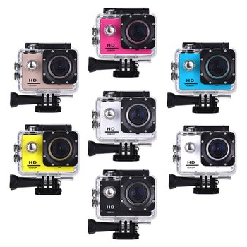 цена на Outdoor Mini Sport Action Camera Ultra 30M 1080P Underwater Waterproof Helmet Video Recording Cameras Sport Cam