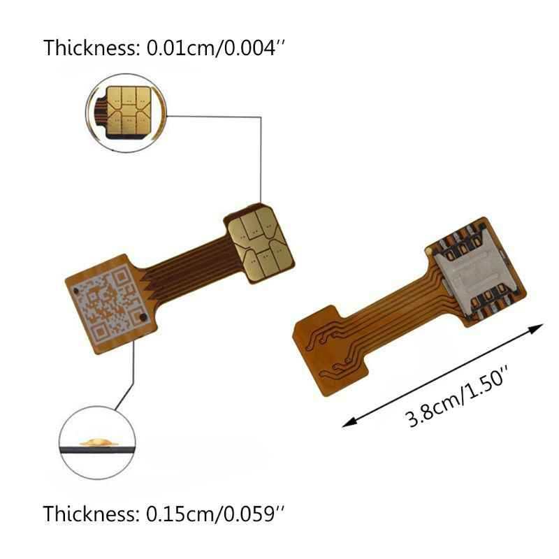 Hybrid Double Dual SIM Kartu Micro SD Adapter untuk Ponsel Android Extender Nano MIC 19QA