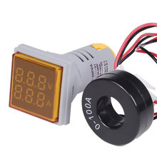 AC 60-500V 0-100A Voltmeter Ammeter Square L-E-D Voltmeter Ammeter Signal Light Voltage Current Meter Indicator Voltmeter Tester(China)