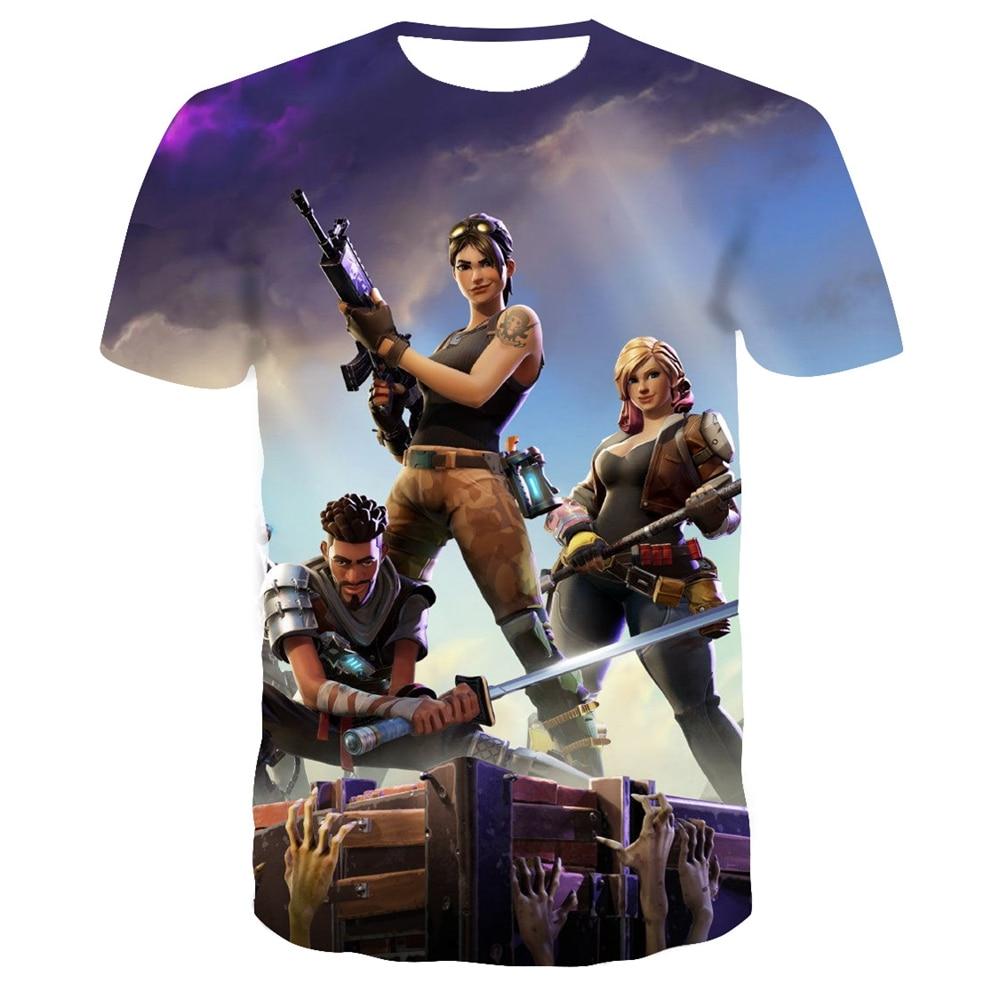 New Summer T Shirt Battle Royale Gaming Men Women T-Shirt Cartoon Cute Tee Short Sleeve 3D Print Fortniter Children Tshirts