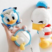 For Apple AirPods Earpods Case Cute Cartoon Duck 3D Daisy Donald Butt Wireless E