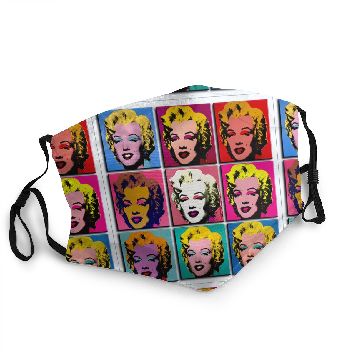 Marilyn Monroe Abstract Art Non-Disposable Face Mask Pop Art Anti Bacterial Dust Mask Protection Cover Respirator Mouth Muffle