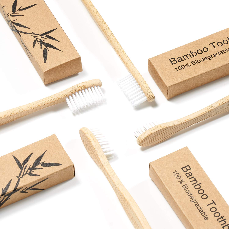 Biodegradable Bamboo Toothbrushes 10pcs/5pcs Bamboo & Eco Friendly Toothbrushes » Planet Green Eco-Friendly Shop