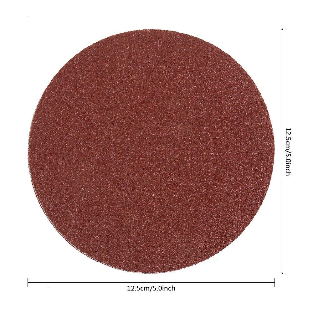 10pcs Detachable Sanding Discs Angle Grinder Backing Pad M14 Thread Sander Woodworking Polishing Hook Loop Abrasive Tools