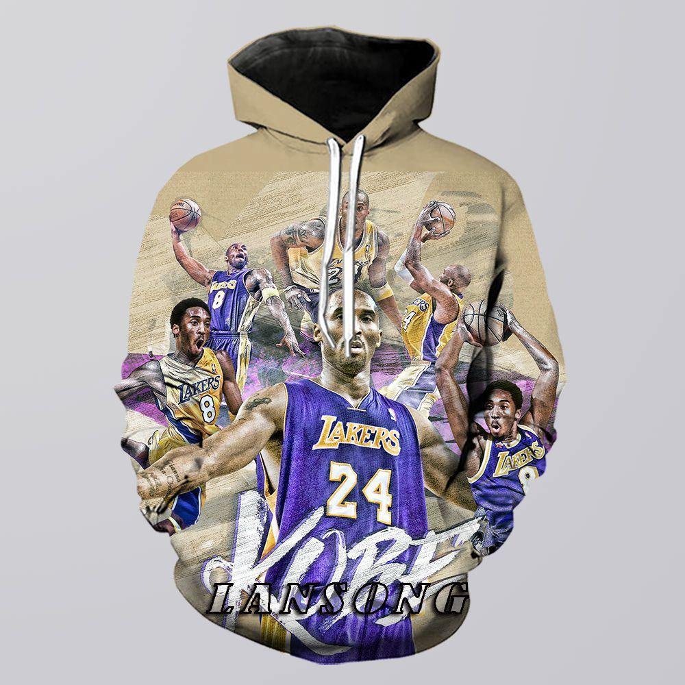 Kobe Bryant Hoodie Men 3d Print Mamba Sweatshirt Harajuku Funny Pants Casual Shorts Fashion Streetwear Hip Hop Jacket Clothing