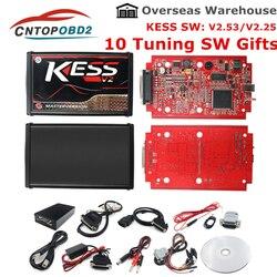 Online KESS V2 V5.017 mistrz ECU Chip stroik KTAG V2.53 V7.020 4 LED KESS mistrz V2.47 BDM Frame ECU programista K-TAG 7.02