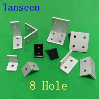 8 agujeros 2020 Vertical soportes de esquina 2040, 3060, 4080, 4590, 50100, 6060, 8080 de aluminio 9090 conector de perfil de aluminio Accesorios