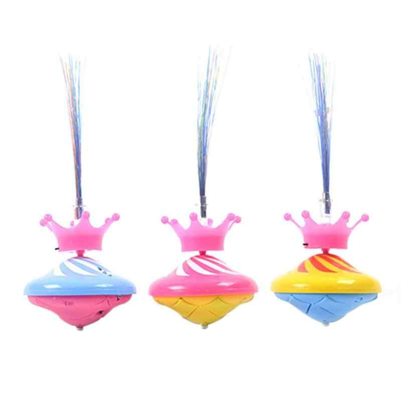 Laser Color Electric Children Glow Toy Electric Gyro LED Light Music Flashing Spinning Top Drift Toy Children Kids Classic Toy