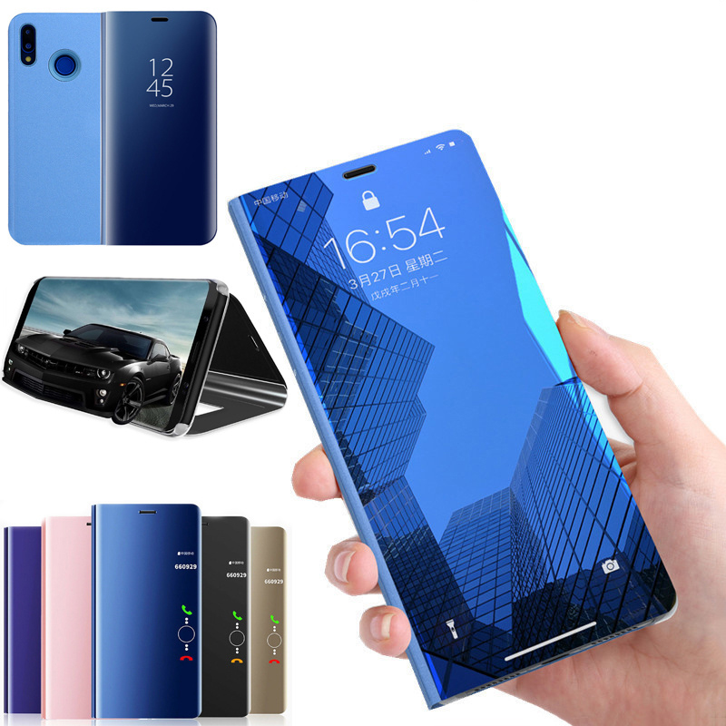 Smart Mirror <font><b>Flip</b></font> Phone Case For <font><b>OPPO</b></font> F11 R9 R17 R15 Pro R11S R11 R9S Plus A7 A3 A5 A3S A83 A71 F9 F7 F5 <font><b>Find</b></font> <font><b>X</b></font> Back <font><b>Cover</b></font> Case image