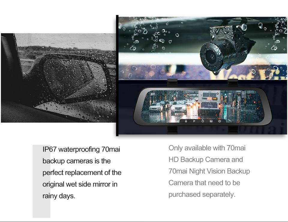 AliExpress | Dash camera auto integrată în oglindă de la 70 Mai, vedere fata + spate, HD, 23.7 cm, 130 grade vizibilitate, livrare din Polonia 7