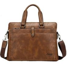 Simple Famous Brand Business Men Briefcase Bag Luxury Leather 14 In Laptop Or A4 Bag Man Shoulder Bag Bolsa Maleta Bolso Hombre