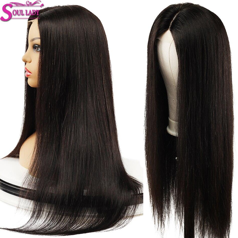 Soul Lady 13X6 avant de lacet perruques de cheveux humains blanchis noeuds pré plumé pour les femmes partie profonde brésilienne droite Remy cheveux avant perruques