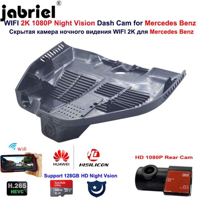 2K HD 1080P araba dvrı Dash kamera kamera Mercedes Benz için GLC300 GLC300d GLC300e GLC x253 c253 AMG GLC43 GLC63 EQC400 2019 2020 2021