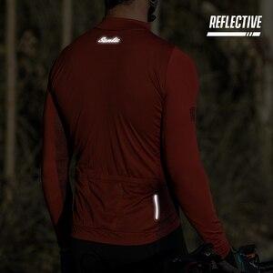 Image 5 - Santic mężczyźni jazda na rowerze Jersey długie rękawy Fit wygodne słońce ochronne szosowe topy koszulki MTB Jersey rozmiar azjatycki WM8C01100