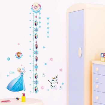 Cartoon Princess Elsa Wall Stickers for Kids Rooms Girls Bedroom Poster Vinyl DIY Mural Art Adesivo de parede Decal Baby Nursery 17