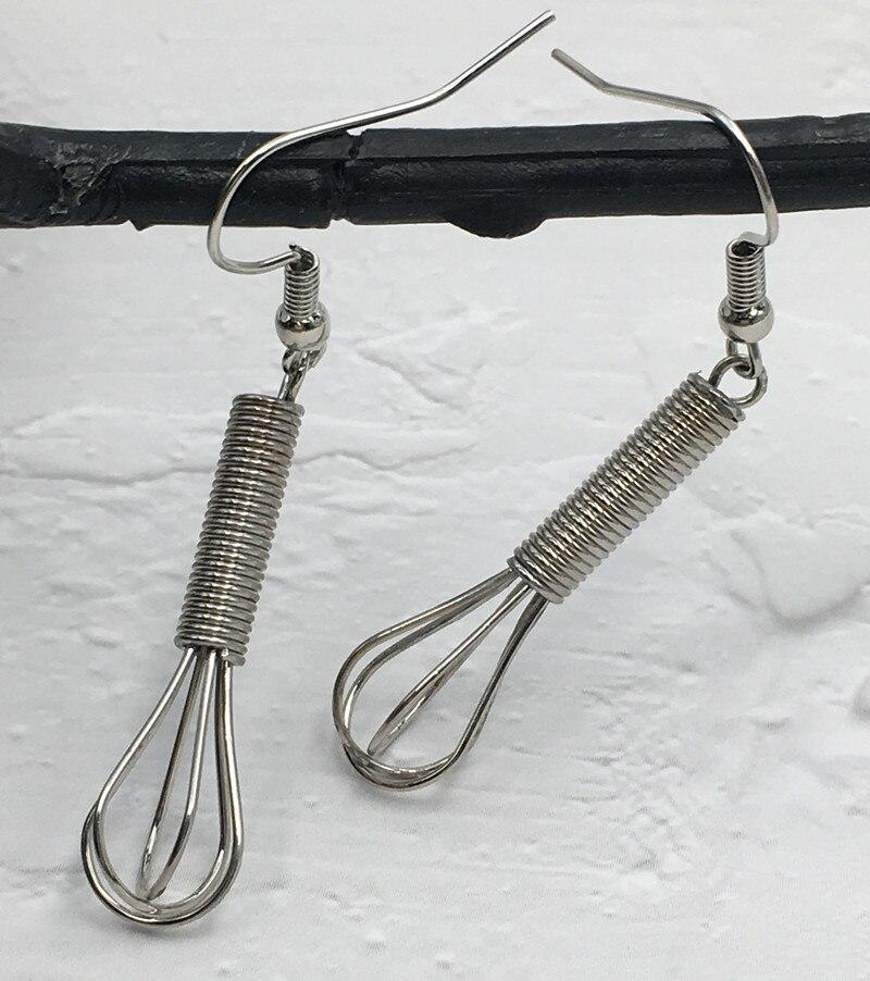 Silver Whisk Earrings  1