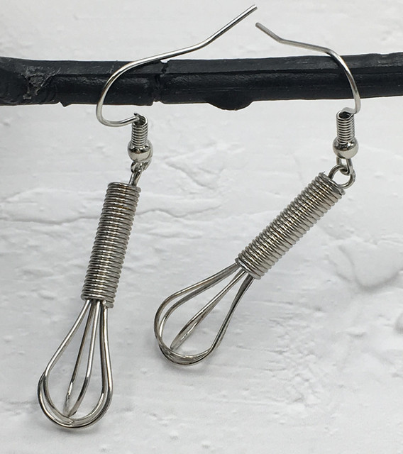 Silver Whisk Earrings  1