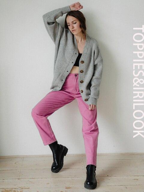 TOPPIES Autumn Woman pants High Waist Trousers Cotton Sweatpants Plus Size Clothing 2020 Clothes 2
