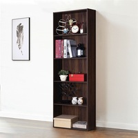 5 Shelf Bedroom Storage Bookshelf Bookcase Furniture Modern Multi Functional Display Cabinet HW60186