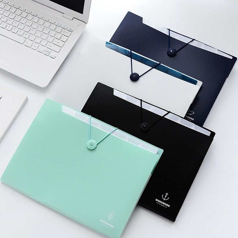 A4 12-packet Waterproof Accordion Folder File Organizer Document Bag Teacher Paper Stationery Expanding File Folder Plastic