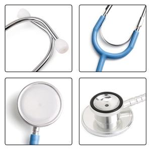 Image 2 - Cabeça dupla estetoscópio dispositivo médico profissional médico enfermeira estetoscópio cabeça dupla cardiologia equipamento médico estudante veterinário