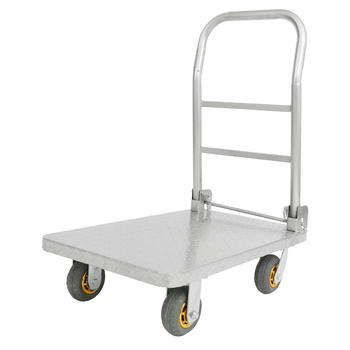 Simple Portable Pull Small Push Car Heavy King Flat Cart Labor-saving Trailer Lightweight Folding Steel Four-wheeled Cart