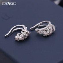 Boucles d'oreilles rondes en zircone cubique pour femmes, faux Piercing coréen, breloques classiques, bijoux à la mode