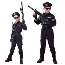 Специальная одежда для мальчиков, полицейская форма, детский подарок на день рождения, костюм для костюмированной вечеринки на Хэллоуин, Детский костюм SWAT, армейский костюм