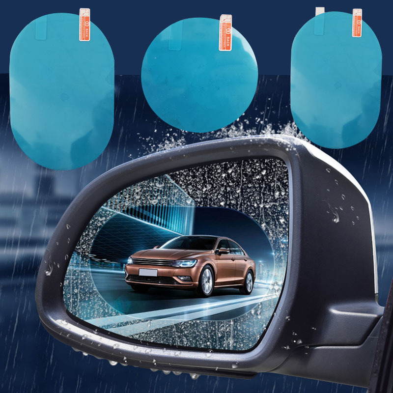 4 Pcs Protective Car Rearview Mirror Film Anti Fog Window Clear Rainproof Rear View Mirror Protective Soft Film Auto Accessories