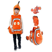 DM COS Halloween Christmas Party Kids Dress Up Find Nemo Clown Fish Cosplay Costumes Animation Cosplay Cartoon Animal Costumes halloween costumes clown dressed up acting cute nose red