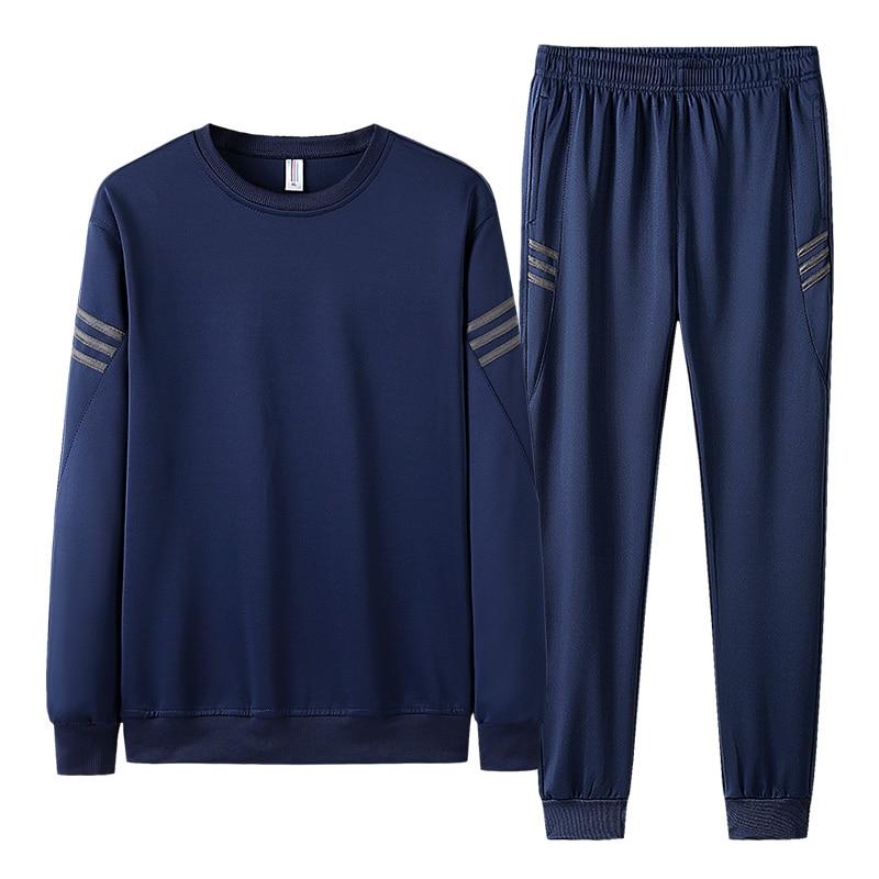 AIOPESON 2019 Autumn Tracksuit Men Fashion Casual Sportswear Slim Fit O-Neck Hoodies + Jogger Pants Men Sweat Suits 19