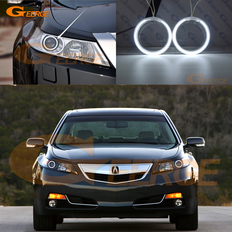 Excellent Ultra bright illumination CCFL Angel Eyes kit Halo Ring For <font><b>Acura</b></font> <font><b>TL</b></font> <font><b>2009</b></font> 2010 2011 image