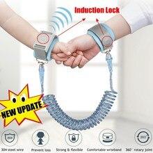 Pulso anti-perda da criança 1.5/2/2. pulseira magnética anti-perda, correia de 5m para criança, com segurança, para caminhada ao ar livre, tira de mão