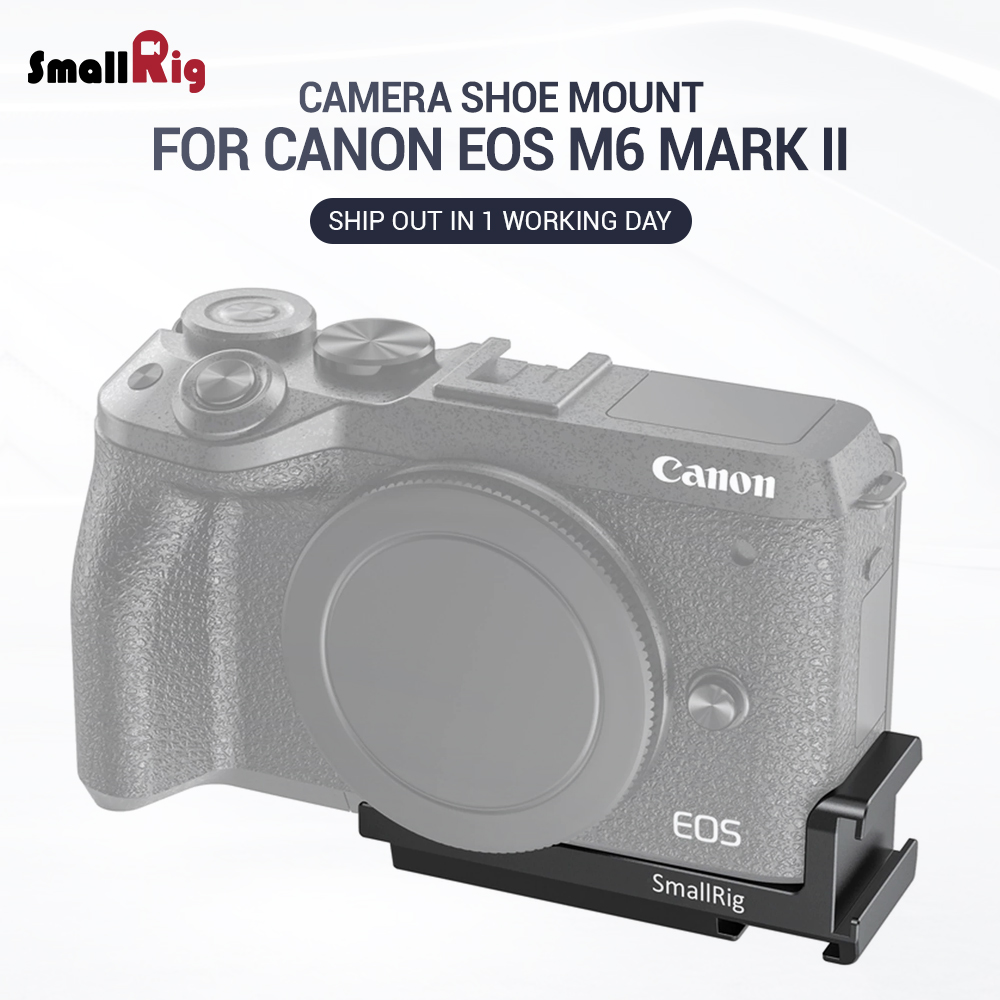 SmallRig Vlogging Cold Shoe Plate For Canon EOS M6 Mark II Camera DIY Camera Rig For Microphone Attach Light Weight 2517