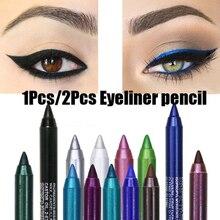 Новинка, карандаш для глаз, стойкий, водостойкий, пигмент, зеленый, коричневый, черный, ручка для глаз, женская мода, цвет, макияж глаз, косметика, TSLM2