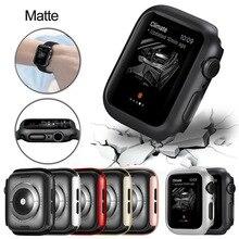 매트 커버 애플 시계 시리즈 6 5 4 38MM 44mm 40mm 프레임 보호 케이스 커버 쉘 범퍼 케이스 iWatch 5 4 커버 42MM