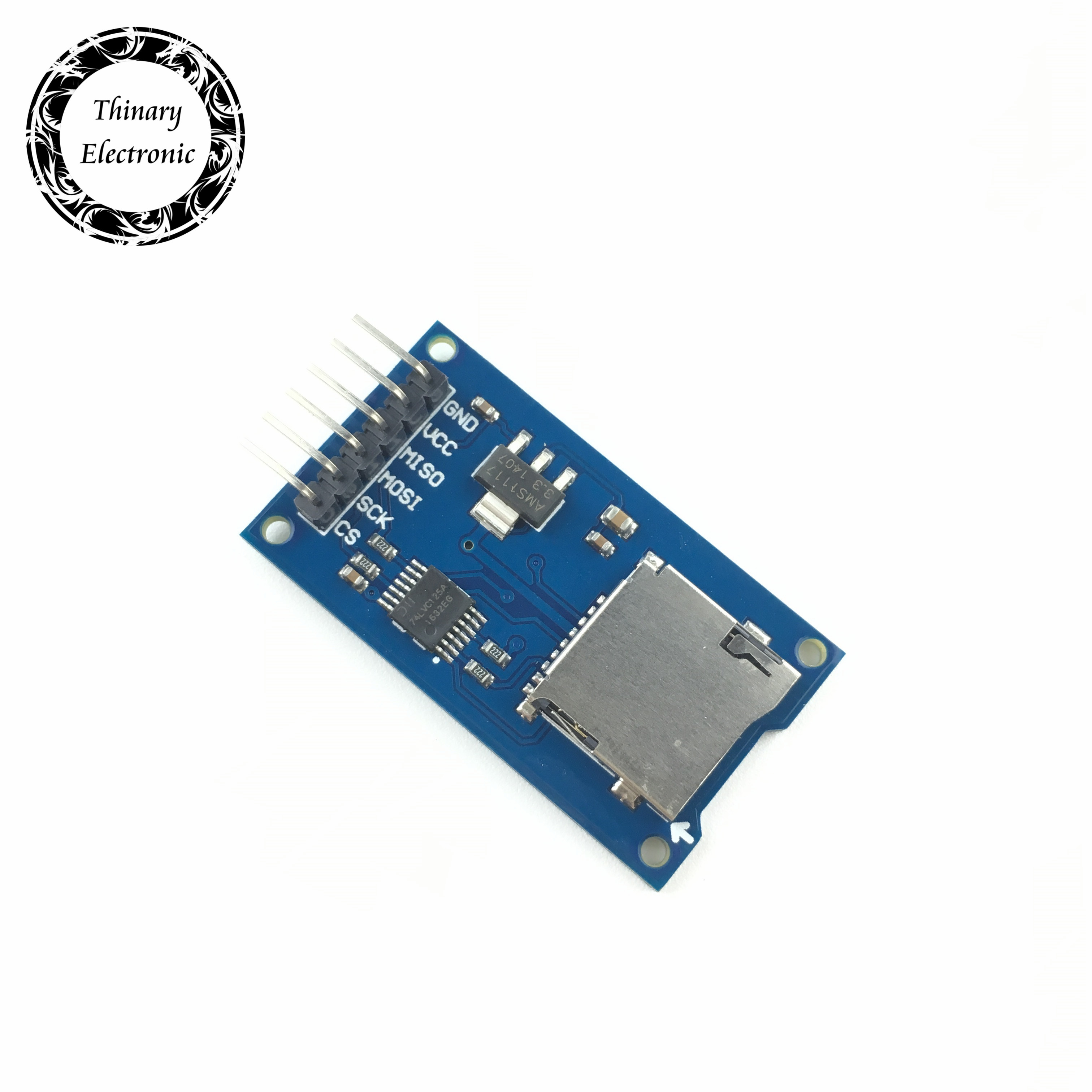 Free shipping 100pcs lot Micro SD card mini TF card reader module SPI interfaces with level