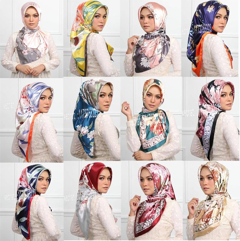 90 * 90cm Silk KeeNew Printing Scarf Explosion Malaysia Muslim Headscarf