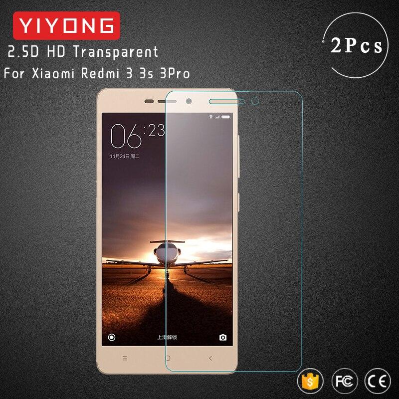 YIYONG 2.5D Screen Glass For Xiaomi Redmi 3S Pro Tempered Glass Xiomi Redmi3 Pro Screen Protector For Xiaomi Redmi 3 Pro Glass(China)