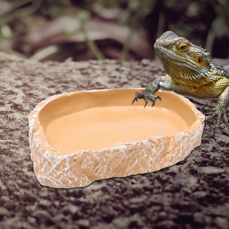 1pcs 12*7.5*2cm Resin Tortoise Bowl Basin No poison Reptiles Feeding Supplies Food Container Feeder Dish For Tortoise Reptiles