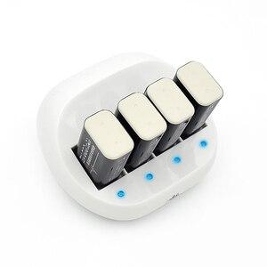 Image 5 - PALO 4 Slot 9V Batteria di Vendita Calda del Caricatore Intelligente Ricaricabile Intelligente Caricabatterie Rapido Per 6F22 9V Batteria Al Litio EU/Spina DEGLI STATI UNITI