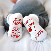 Cute Infant Baby Socks Combed Cotton Baby Socks Infant Toddler Anti Slip Socks 0-1 Years Soft Sentences Socks